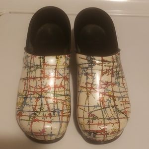 Paint Splatter Design Dansko Clogs